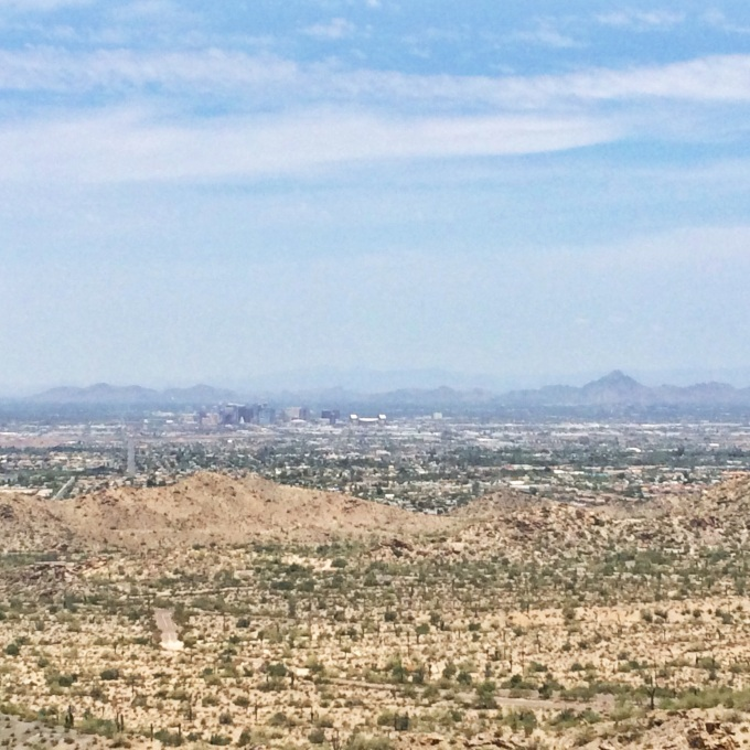 South Mountain overlooking all of Phoenix.