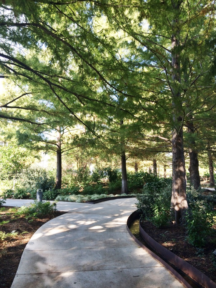We walked through the meandering paths around the Botanical Gardens.