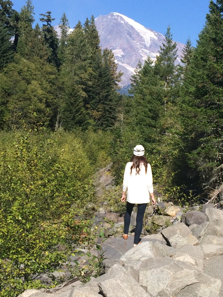 Seeing Mount Rainier for the first time.