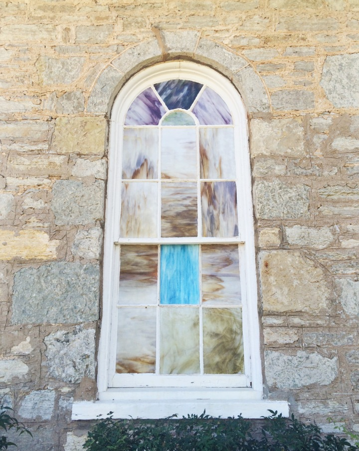 The pastel colored windows, are what peaked my interest about the chapel.